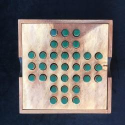 Solitaire boîte en bois